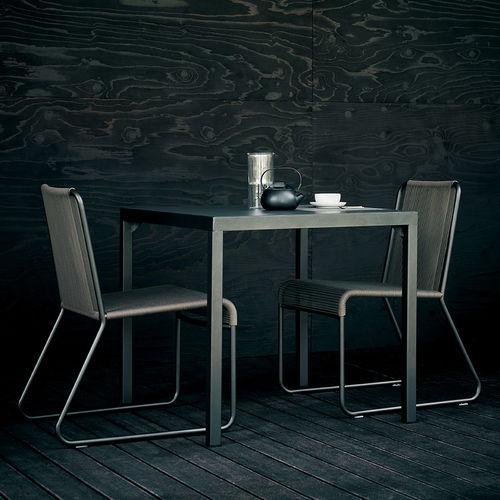 Sedia moderna / con braccioli / impilabile / a slitta HARP  RODA