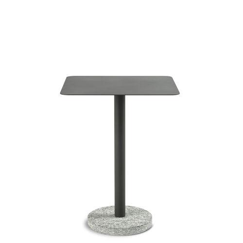 tavolo d'appoggio moderno / in acciaio inossidabile / in pietra / con supporto in pietra naturale