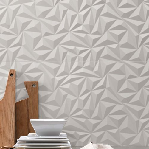 Piastrella 3D / da interno / da parete / in gres porcellanato 3D WALL DESIGN : ANGLE WHITE Atlas Concorde
