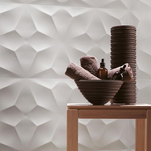 Piastrella da interno / da parete / in gres porcellanato / a motivi geometrici 3D WALL DESIGN : DIAMOND WHITE & NIGHT Atlas Concorde