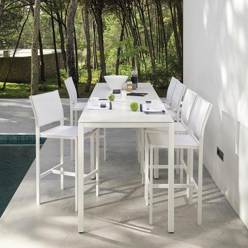sedia alta moderna / in Batyline® / in alluminio / da esterno