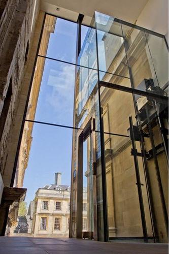 pannello in vetro di sicurezza / per edificio / strutturale / trasparente