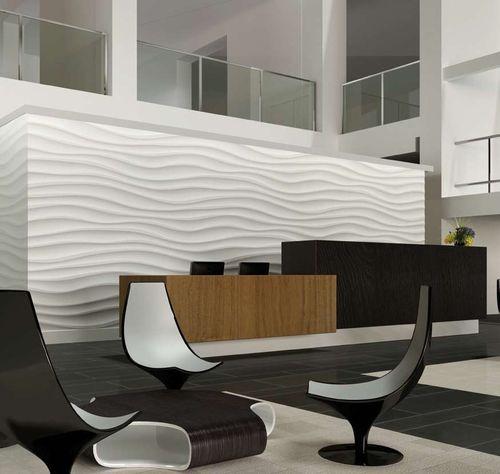 pannello decorativo in gesso / composito / da parete / 3D