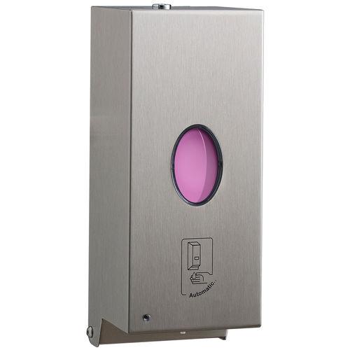 distributore di sapone contract / da parete / in acciaio inossidabile / elettronico