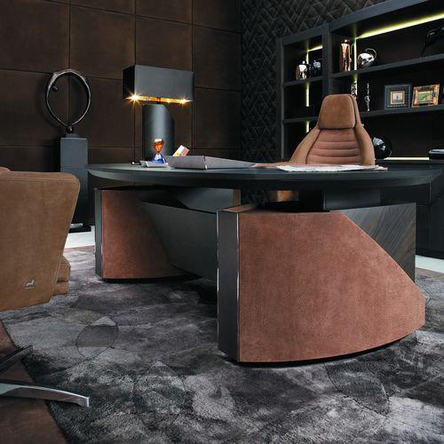 scrivania in pelle / Art Deco / contract
