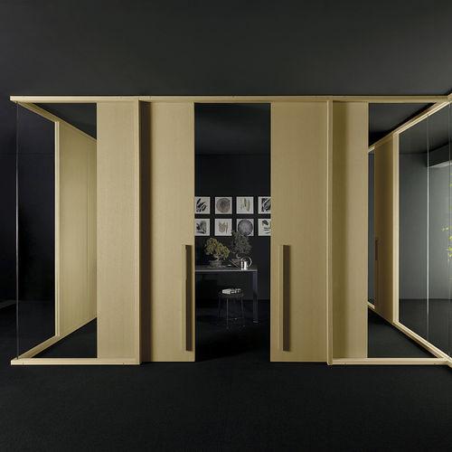 parete scorrevole / in legno / ad uso professionale