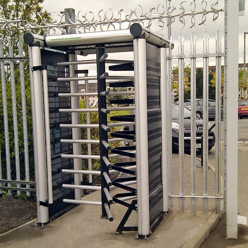 tornello a tutta altezza / in alluminio / per controllo accesso / per spazio pubblico