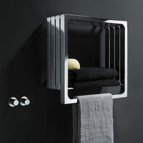 radiatore scaldasalviette ad acqua calda / elettrico / in acciaio / moderno