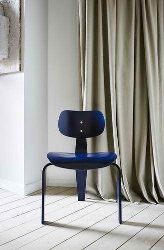 sedia visitatore moderna / in legno
