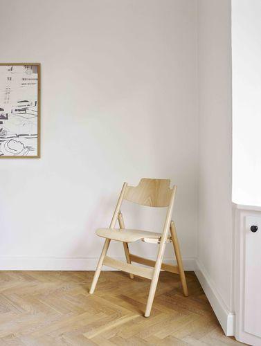 sedia visitatore moderna / pieghevole / in legno / per edifici pubblici
