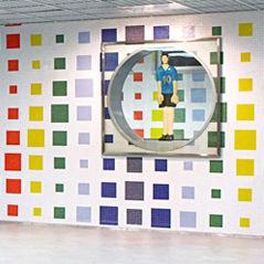 mosaico da interno / da parete / in vetro / geometrico