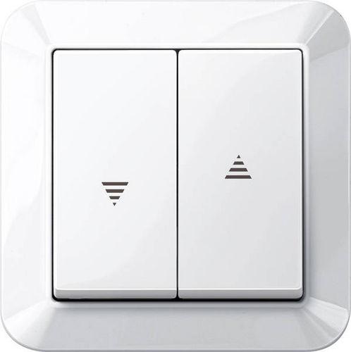 interruttore per persiana avvolgibile / con interruttore a pulsante / doppio / moderno
