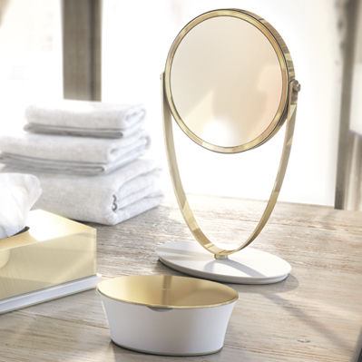 specchio da appoggio / ingranditore / moderno / tondo
