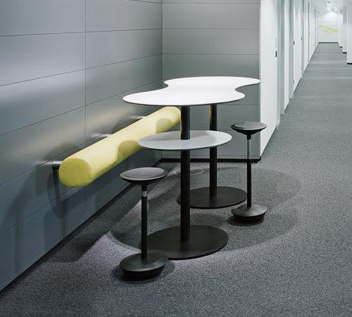 tavolo alto moderno / in legno / in metallo / tondo