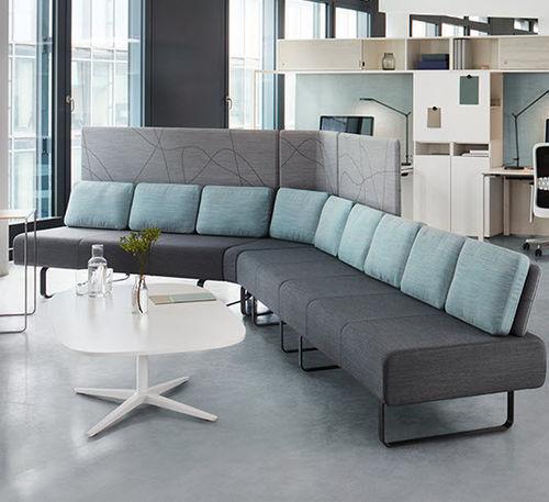 divanetto imbottito modulare / moderno / in tessuto / contract