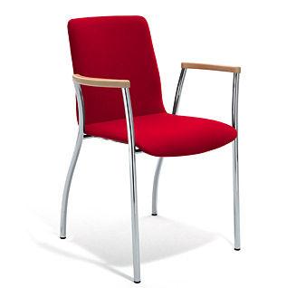 Sedia visitatore moderna / con braccioli / imbottita / impilabile KIZZ by Johannes Karl & Christian Kreiner Bene GmbH