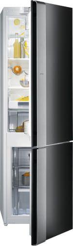 frigorifero combinato ad armadio / nero / da incasso / con congelatore basso
