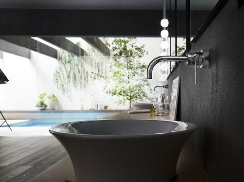 Miscelatore per lavabo / da parete / in ottone / da bagno - PLUS ...