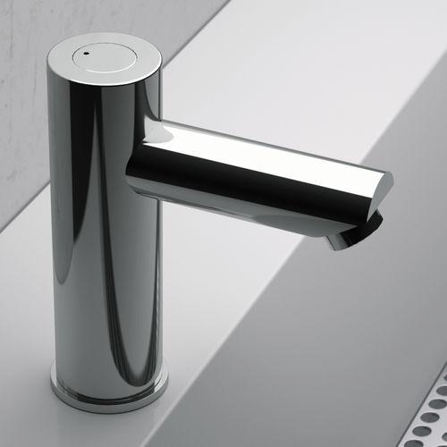 rubinetto per lavabo / per lavamani / da appoggio / in ottone cromato