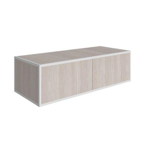mobile lavabo a muro / in legno / moderno