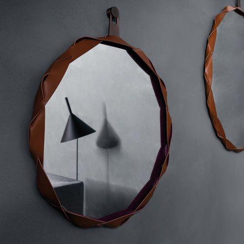 specchio a muro / moderno / tondo / in metallo