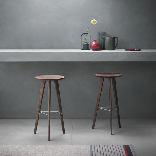 sgabello da bar moderno / in quercia / in noce / in acciaio inossidabile