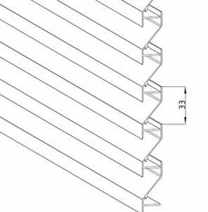 rivestimento di facciata in alluminio / in gesso / in lega / in lamiera grecata