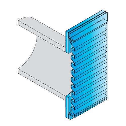 griglia di ventilazione in metallo / rettangolare