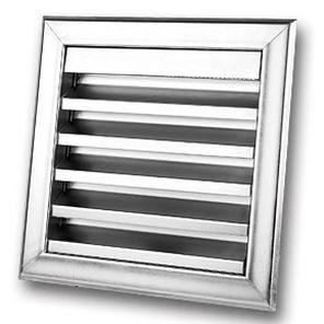 griglia di ventilazione in acciaio / quadrata