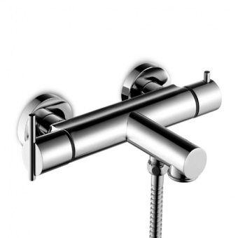 Miscelatore doppio comando da doccia / per vasca / da parete / in metallo cromato SPIN : ZX3152 by Raul Barbieri ZUCCHETTI RUBINETTERIA