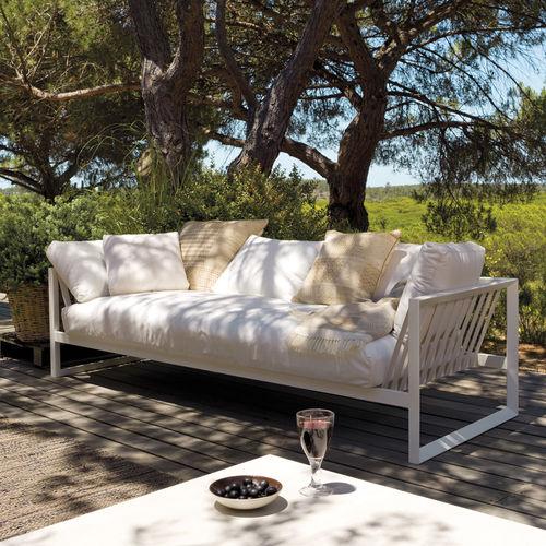 divano moderno / da esterno / in acciaio / in tessuto