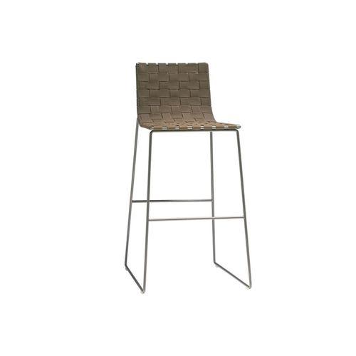 sedia alta moderna / a slitta / in metallo / da esterno
