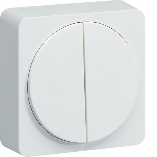 interruttore per sistema domotico / a pulsante / doppio / in policarbonato