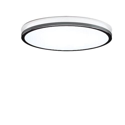 plafoniera moderna / tonda / in vetro / in metallo cromato