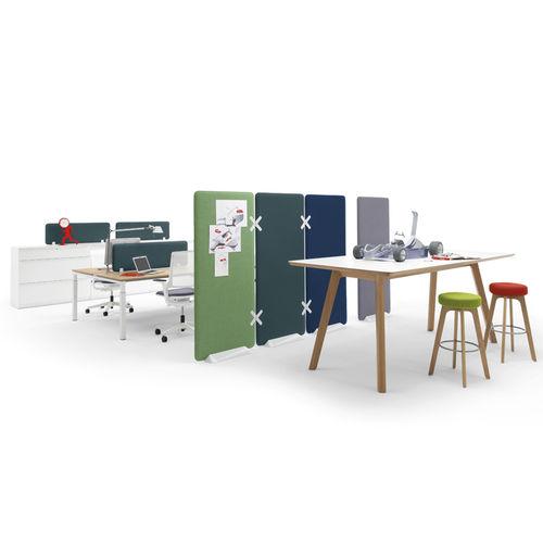 Divisorio per ufficio a pavimento / da bancone / in tessuto / in plastica WINEA X by Uwe Sommerlade WINI Büromöbel Georg Schmidt GmbH & Co. KG