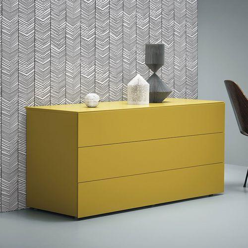 cassettone moderno / in legno laccato / in frassino / giallo