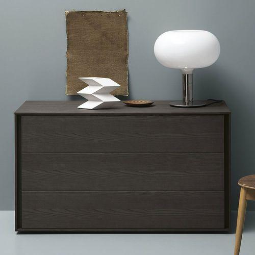 cassettone moderno / in legno laccato / in frassino