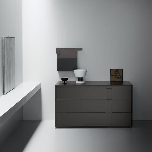cassettone moderno / in legno laccato / in frassino / marrone