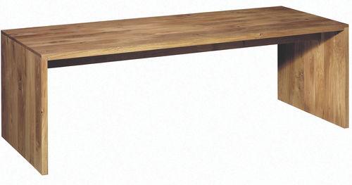 tavolo moderno / in quercia / in noce / in legno massiccio