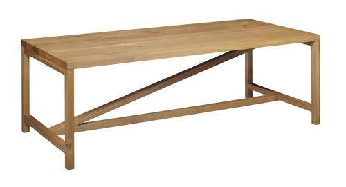 tavolo moderno / in quercia / in legno massiccio / in legno oliato