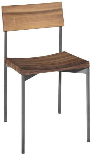 sedia moderna / impilabile / in quercia / in legno oliato