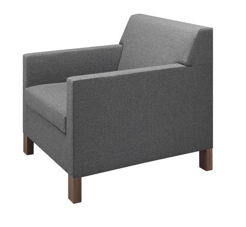 poltrona moderna / in tessuto / in quercia / in legno massiccio