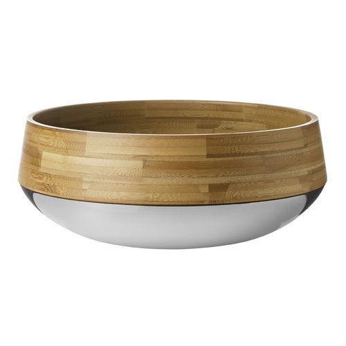 ciotola in acciaio inossidabile / in bambù