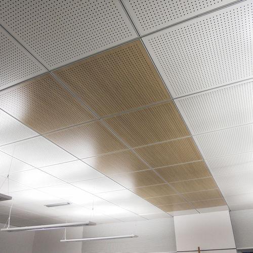 controsoffitto in legno / in pannelli / a quadrotte / acustico