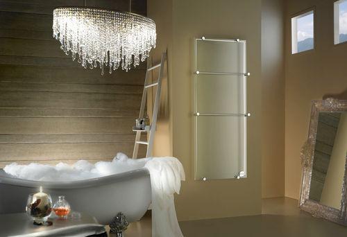 radiatore scaldasalviette a infrarossi / con rivestimento in vetro temperato / moderno / da bagno