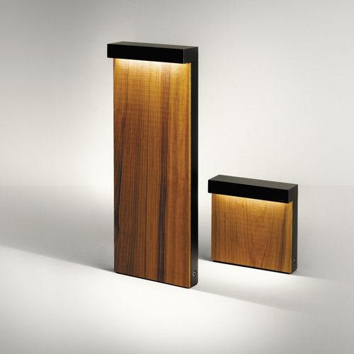 lampioncino da giardino / moderno / in vetro / in legno