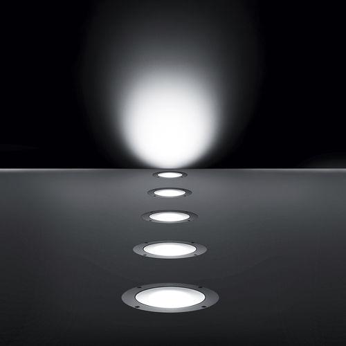 luce da incasso a pavimento / LED / tonda / da esterno