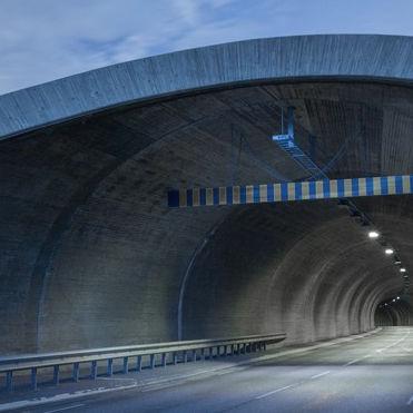 illuminazione per tunnel