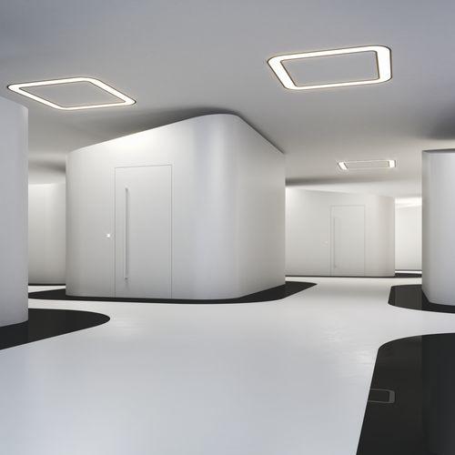 luce da incasso a soffitto / LED / quadrata / in vetro opalescente