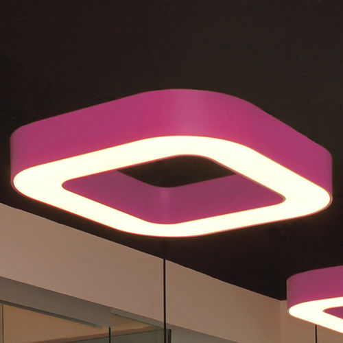luce LED / quadrata / in vetro opalescente / in plastica